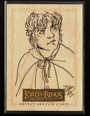 LOTR Lord of the Rings Masterpieces 2 Topps Sketch Card Matthew Goodmanson 1/1
