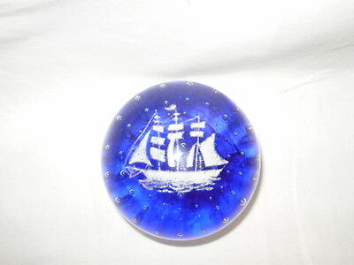 Vintage Gentile Glass Paperweight - ship