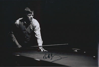 Alex Hurricane HIGGINS SIGNED Autograph 12x8 Photo AFTAL COA Private Signing