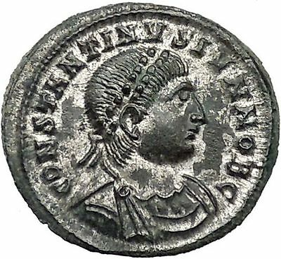 CONSTANTINE II Constantine the Great son Ancient Roman Coin Camp Gate  i46712