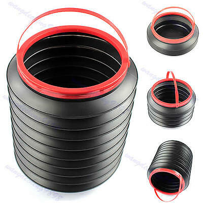 Bucket Folding Collapsible Fishing Water Pail Storage Box Trash Container In Car