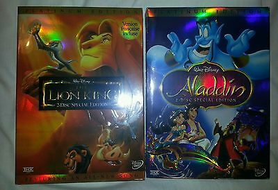 Aladdin and The Lion King DVD 2 Disc Set Special Edition