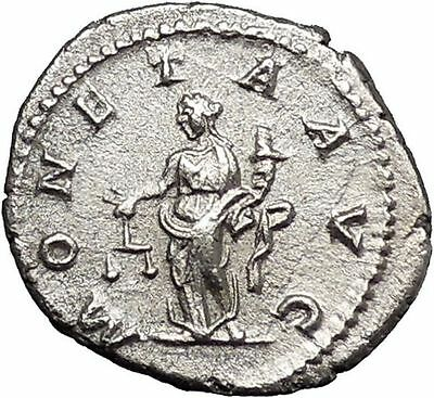 CARACALLA 210AD Rare Silver Ancient Roman Coin Juno MONETA Wealth  i46742