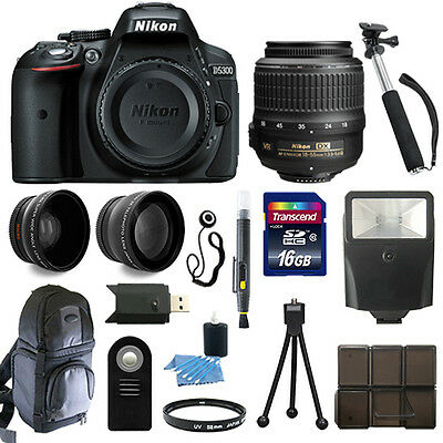 Nikon D5300 24.2 MP CMOS Digital SLR Camera + 18-55mm VR NIKKOR Lens + Full Kit