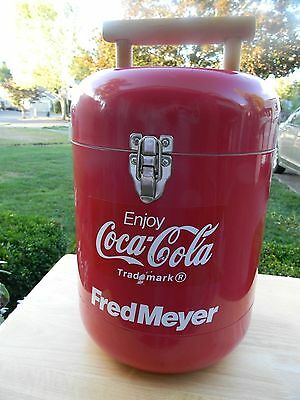 Rare Vintage Coca Cola Fred Meyer Red Cooler-Good Condition!