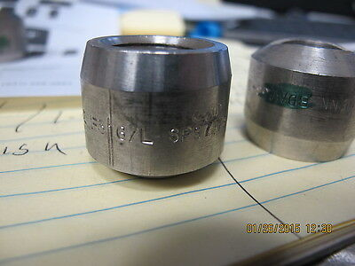 "1 ½"" PIPE Weldolet S80 ASTM A182 F316L 3000# Long 1 50 OD x"