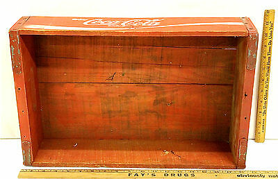 Vintage Coca Cola Wooden Crate Miscue Enjoy Coca-Cola Printing on Case Unique!