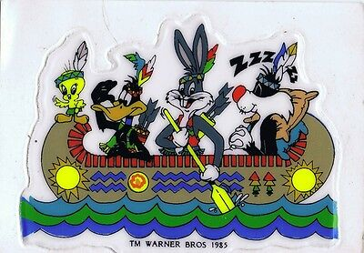 5 Vintage Warner Brothers Stickers Sylvester, Road Runner, Wile E.Coyote, Daffy