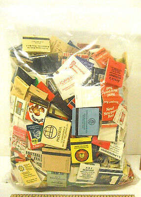 Lot of 4 Pounds of Matchbooks Advertising Many Vintage Ones Unused 1930s - 1960s
