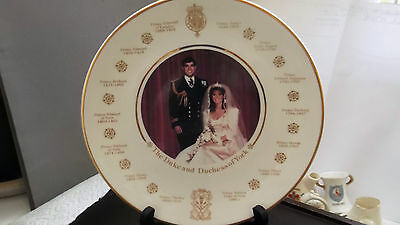 1986 PLATE FOR THE WEDDING OF PRINCE ANDREW AND SARAH BY CORONET POTTERY
