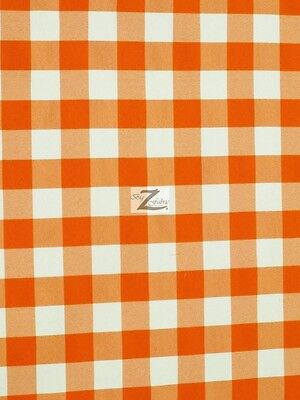 Cotton Small Gingham Checkered Navy Cotton Fabric Print by Yard D686.06