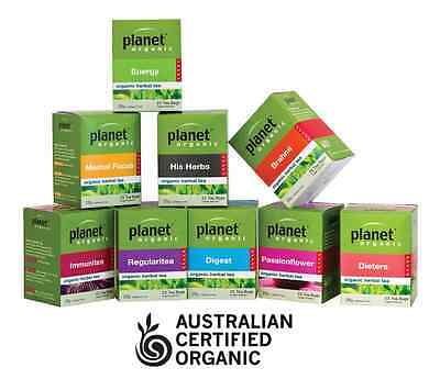 HERBAL TEA 3 x 25 bags (75 pk) Certified Organic Planet Premium Dried Herbs