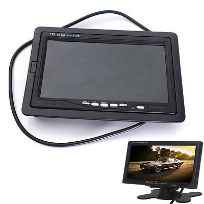 "7"" TFT LCD Screen Car Monitor For CCTV Reversing Rearview Backup Camera"
