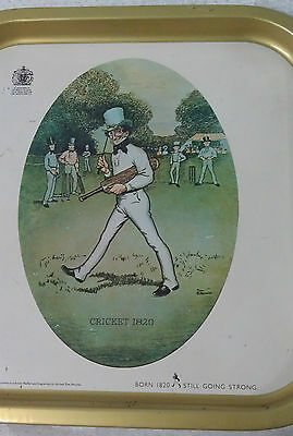 Johnnie Walker Scotch Whisky tray cricket 1820 vintage Hong Kong sporting series