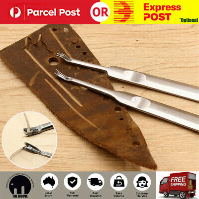 U V Shaped Stitching Groover Skiving Edge Beveler Leathercraft Leather Tool Kit