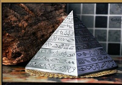 Classical gift home decorative carving creative Pyramid ashtray Tin alloy