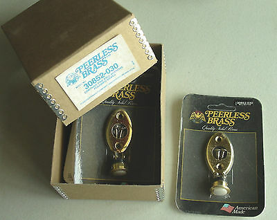 Two  (2) New Door Bell Button, Peerless Brass Made in the USA Model # 30852-030