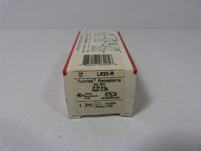 Pass & Seymour L620-R Turnlock Single Receptacle 3Wire 20amp 250V  NEW IN BOX