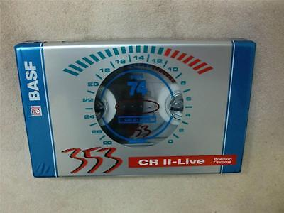 BASF 353 CR II-LIVE 74 Chrome AUDIO TAPE Cassette New in Sealed Package BLANK