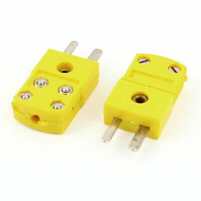 Wire Connector Male Thermocouple Plug RTD Circuits K Type Tester Adapter 2 Pcs