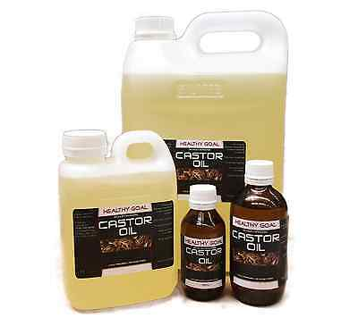 CASTOR OIL Certified Organic 100% Pure Cold Pressed Hexane Free Premium Grade