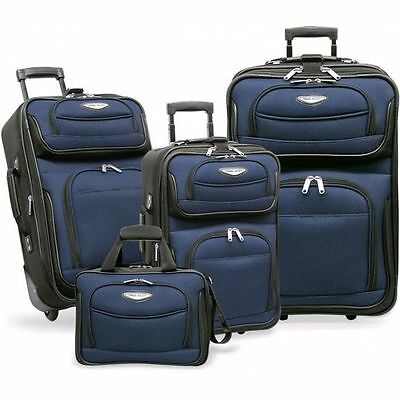 Traveler's Choice - Amsterdam 4pc Travel Collection in Navy