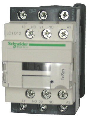 Schneider Electric LC1D12 G7 12 AMP contactor - 120v AC coil