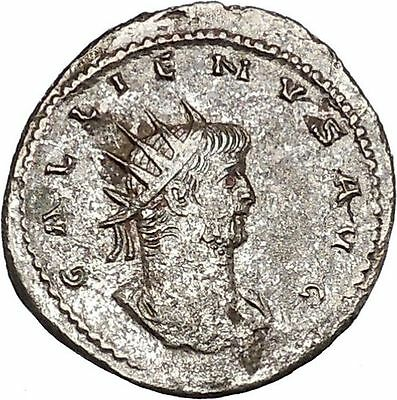 GALLIENUS Asian mint Billon Silver Ancient  Roman Coin ROMA with Victory  i46463