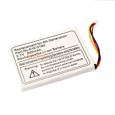 Replacement Battery 800mAh for Apple iPod MP3 4th Gen 616-0198 616-0215 300+SOLD