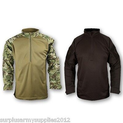 Mens Ubac Tactical Fleece Ripstop Shirt Top Military Army Airsoft Paintballing