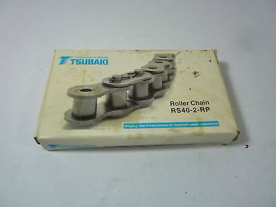 """Tsubaki Roller 240 Link Chain RS40-2-RP-U 1//2/"""" Pitch Double Strand 10 Feet Y2"""