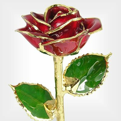 24k Gold Dipped Red Real Rose (Free Christmas Gift Box)
