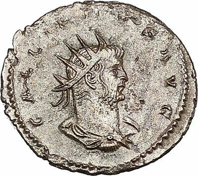 Gallienus Valerian I son Antioch mint Rare  Ancient  Roman Coin Jupiter   i46482