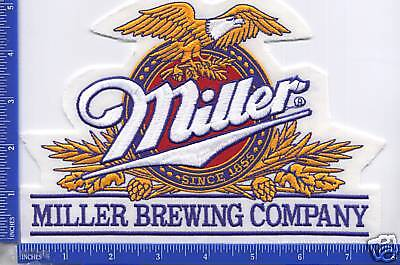 "Authentic MILLER BREWING COMPANY ""MILLER"" BEER patch"