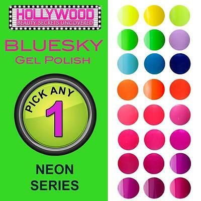 Pick ANY 1x Bluesky Soak Off Gel Nail Polish NEON COLLECTION-needs UV/LED lamp