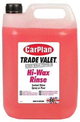 CarPlan Trade Hi-Wax Rinse Car Polish 5L Instant Shine Cleaner Car Care Cleaning