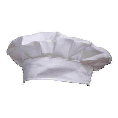 Fancy Dress Party Baker Cook BBQ Kitchen White Chef Hat WS