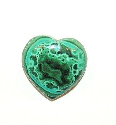 Malachite and Chrysocolla Heart Cabochon 17x16mm from Africa (8439)