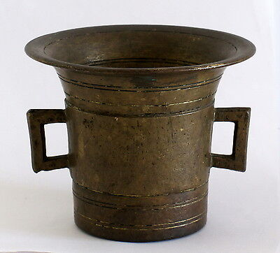 Antique Brass Pharmacy Mortar with Handles - 1800's