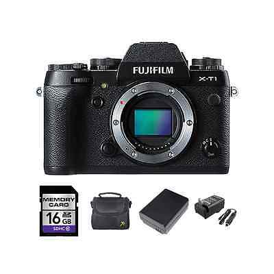 Fujifilm X-T1 Mirrorless Digital Camera + 2 Batteries, 16GB & More