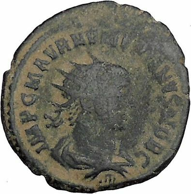 Numerian receiving Victory from Carus Antioch mint  Ancient Roman Coin i46796