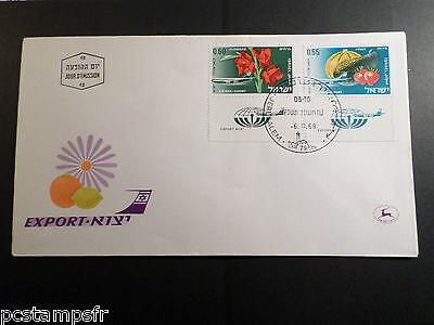 Israel - 1968, Fdc 1° Jour Poste Aerienne Avion, Export, Tp 42/43, Airmail Stamp