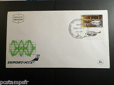 Israel - 1968, Fdc 1° Jour Poste Aerienne Avion, Export, Tp 44, Airmail Stamp