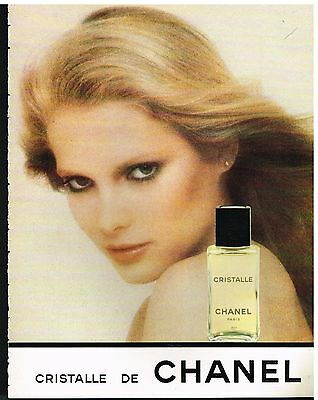 Publicité Advertising 1979 Parfum Cristalle de Chanel