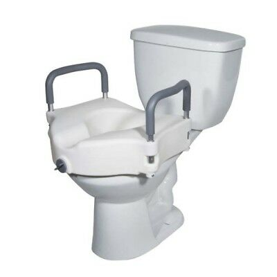 Drive Medical Elevated Raised Toilet Seat White ,300lb Weight Capacity BRAND NEW