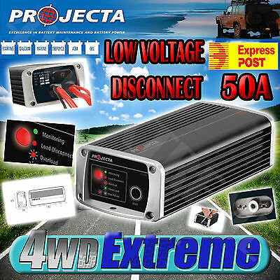 Projecta Low Voltage Disconnect Cut Out Deep Cycle Dual Agm Battery Solar Lvd50