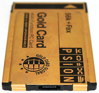 PSION GOLD CARD GSM & ISDN UPGRADEABLE 56k + FAX S99-2318 LAPTOP PCMCIA CARD!!