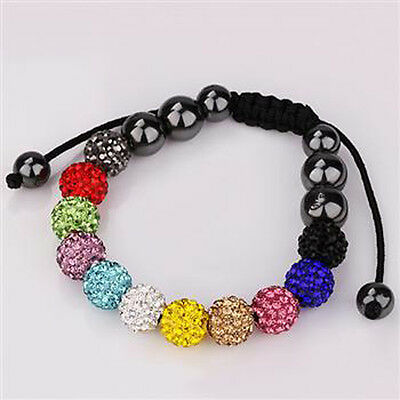 Women's Fashion Jewelry Multi-Color Beads Charm Chain Bracelet Bangle Best Gift