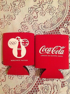 Coca cola Set of 6 London Olympics Coozies