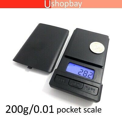 Mini Jewelry Digital Pocket Mirror Scale Ultra small 100g/0.01 Slide Open